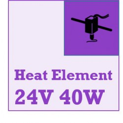 24v 40 Watt - Ceramic Cartridge Heater