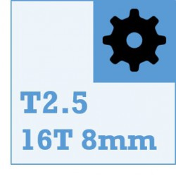 T2.5 Belt and Pulley Packs (16teeth / 8mm Dia)