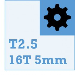 T2.5 Belt and Pulley Packs (16teeth / 5mm Dia)