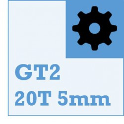 GT2 Belt and Pulley Packs (20teeth / 5mm Dia)