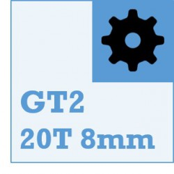 GT2 Belt and Pulley Packs (20teeth / 8mm Dia)