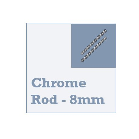 Chrome Steel Linear Rod - 8mm Diameter