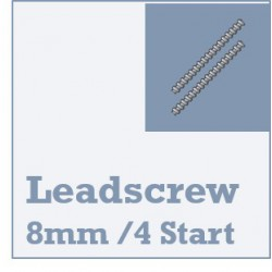 Lead Screw Rod & Nuts - 8mm Dia - 4 Start