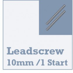 Lead Screw Rod & Nuts - 10mm Dia - 1 Start
