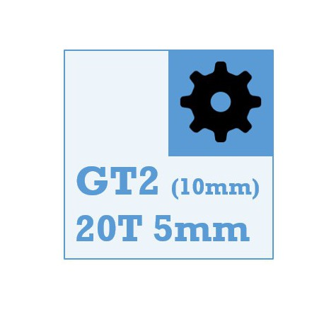 GT2 Belt and Pulley Packs (20teeth / 5mm Dia/ 10mm wide)