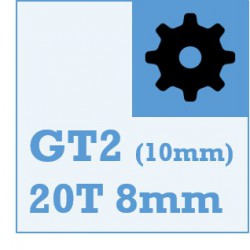 GT2 Belt and Pulley Packs (20teeth / 8mm Dia/ 10mm wide)