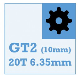 GT2 Belt and Pulley Packs (20teeth / 6.35mm Dia/ 10mm wide)